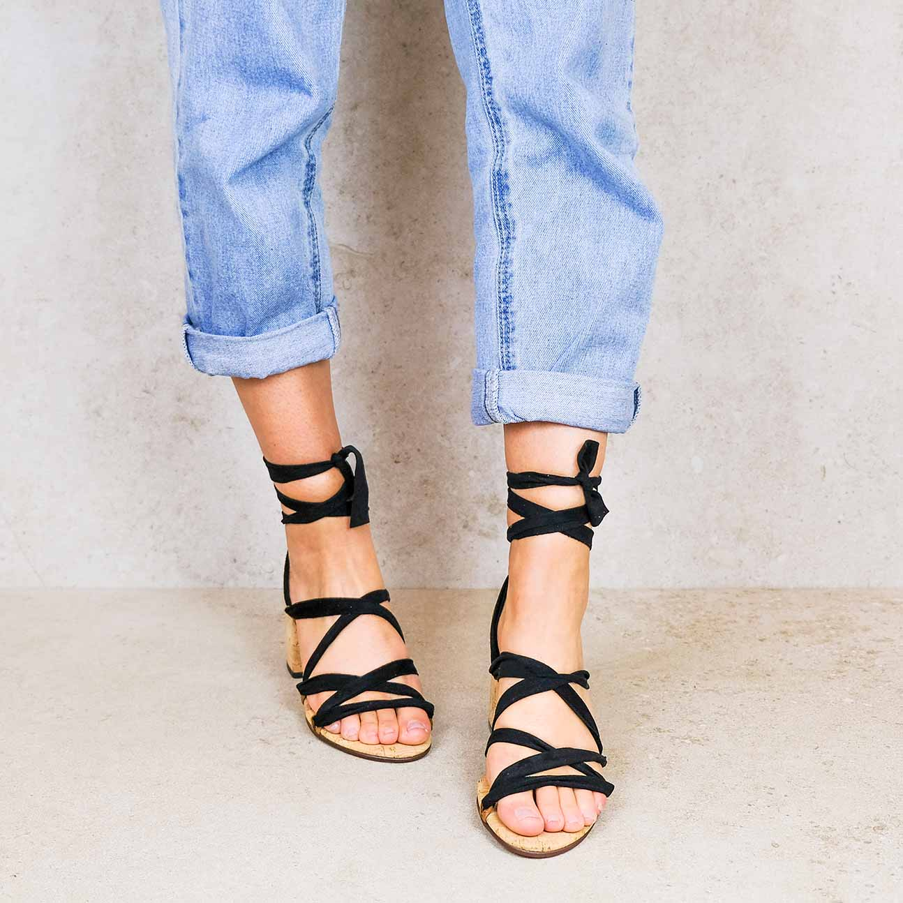 Camila-lintsandalen sandals travelsandals vegan sustainable sandals wikkelsandalen