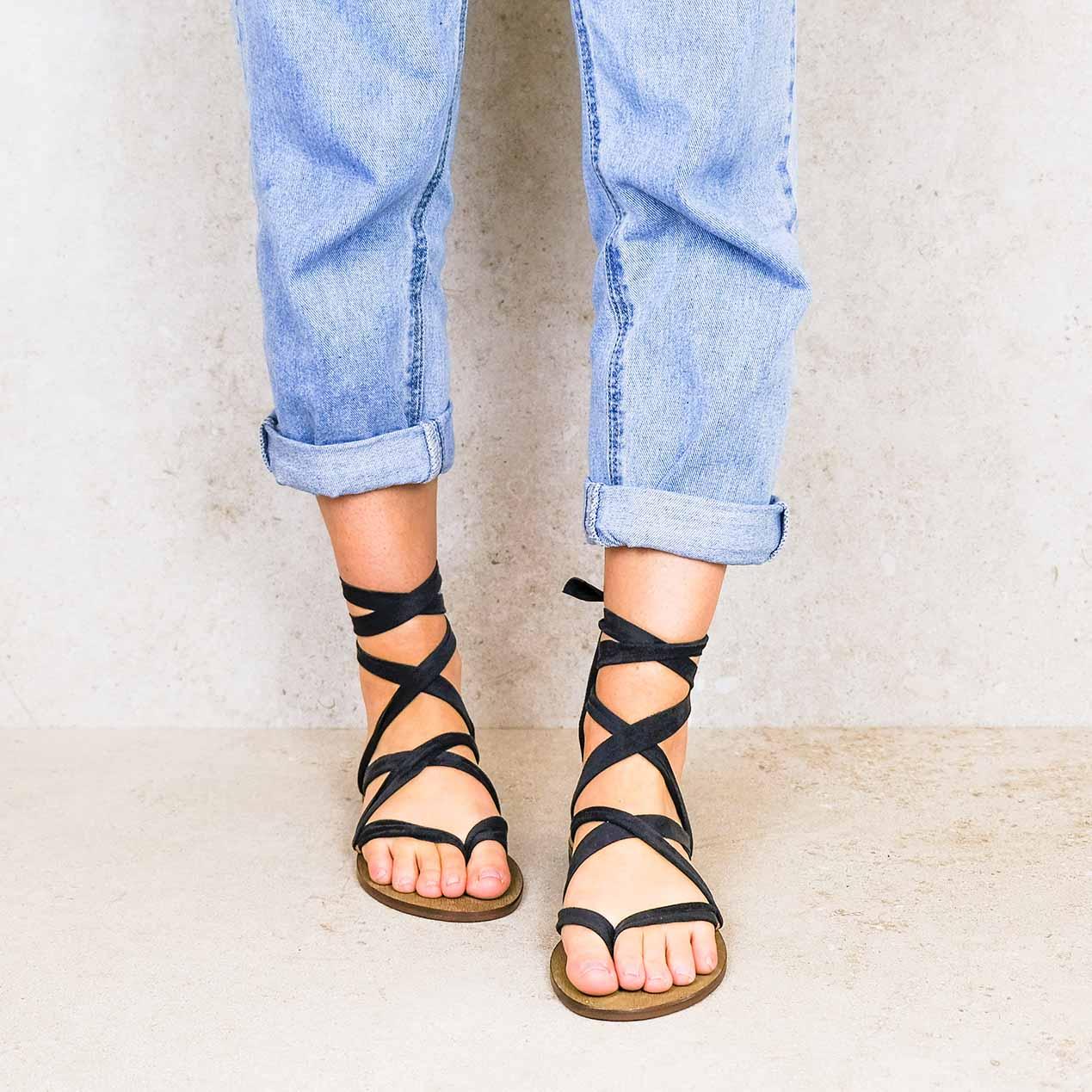 Cancun2-lintsandalen sandals travelsandals vegan sustainable sandals wikkelsandalen