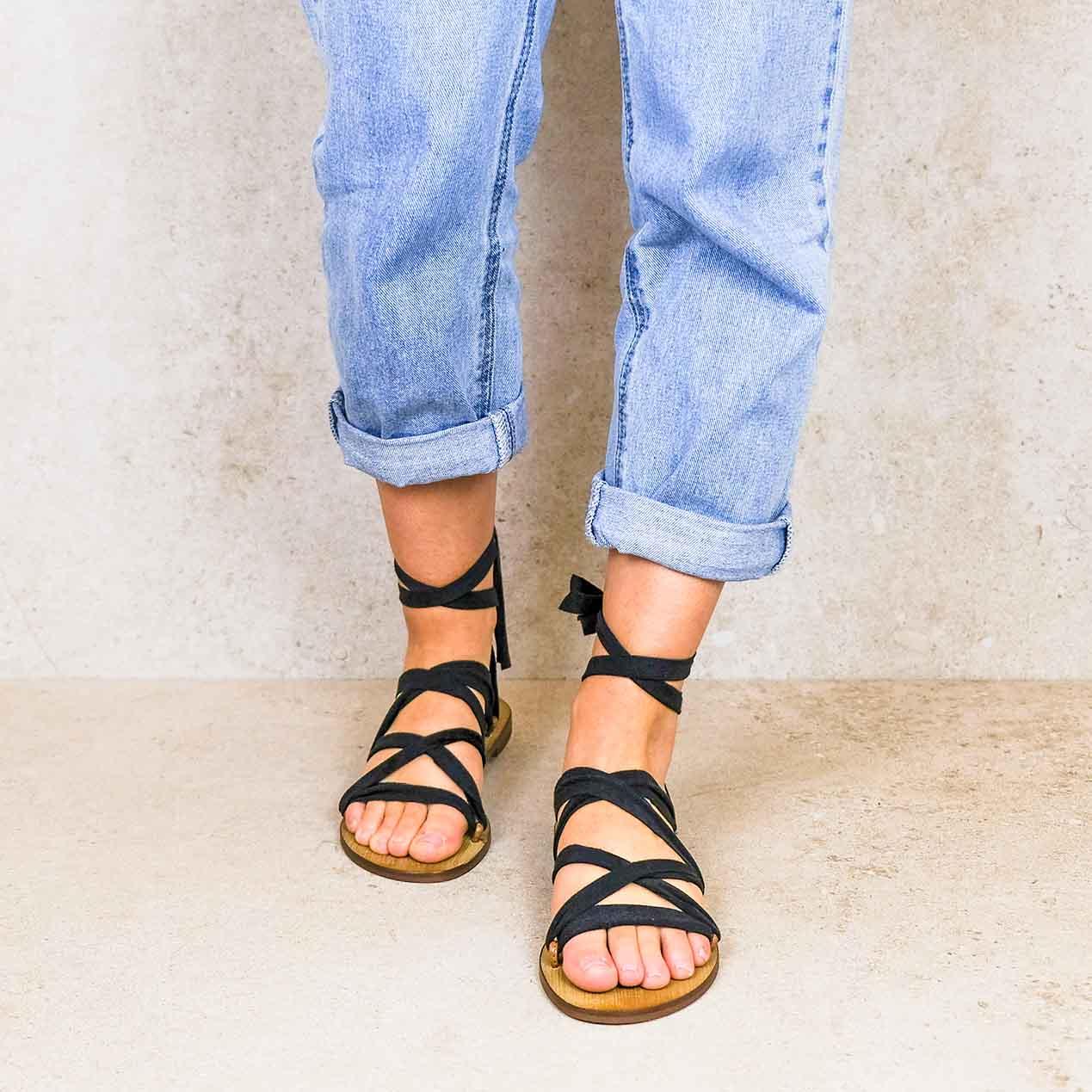 Capri_lintsandalen sandals travelsandals vegan sustainable sandals wikkelsandalen
