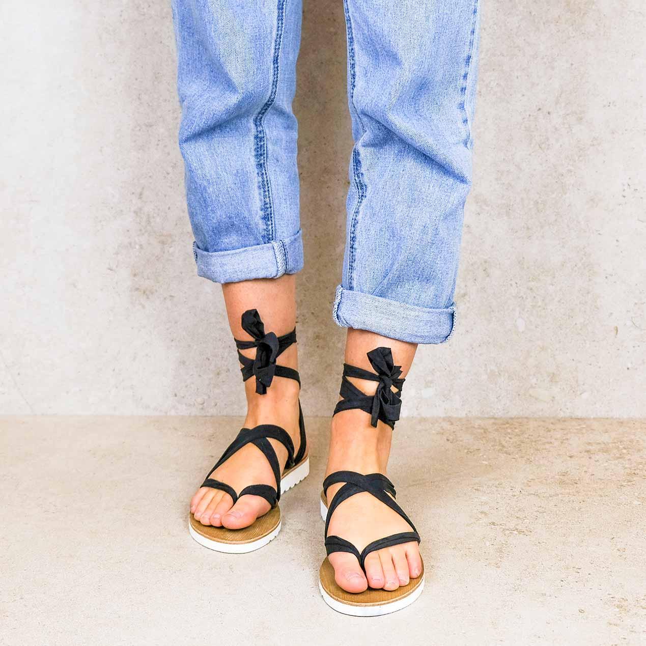 Chalco-lintsandalen sandals travelsandals vegan sustainable sandals wikkelsandalen