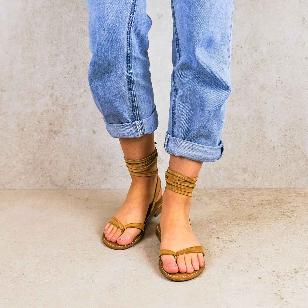 Sierra-camel_lintsandalen sandals travelsandals vegan sustainable sandals wikkelsandalen