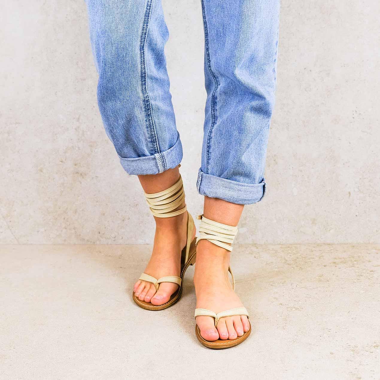 Sierra-ivory_lintsandalen sandals travelsandals vegan sustainable sandals wikkelsandalen