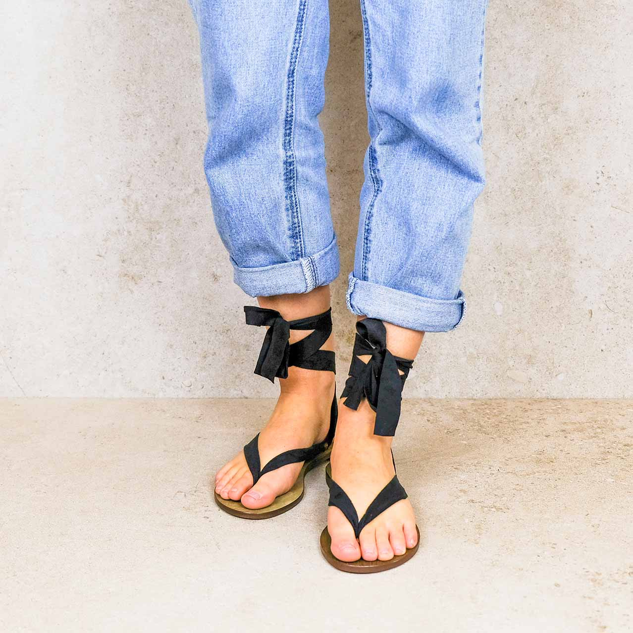 Tulum-lintsandalen sandals travelsandals vegan sustainable sandals wikkelsandalen