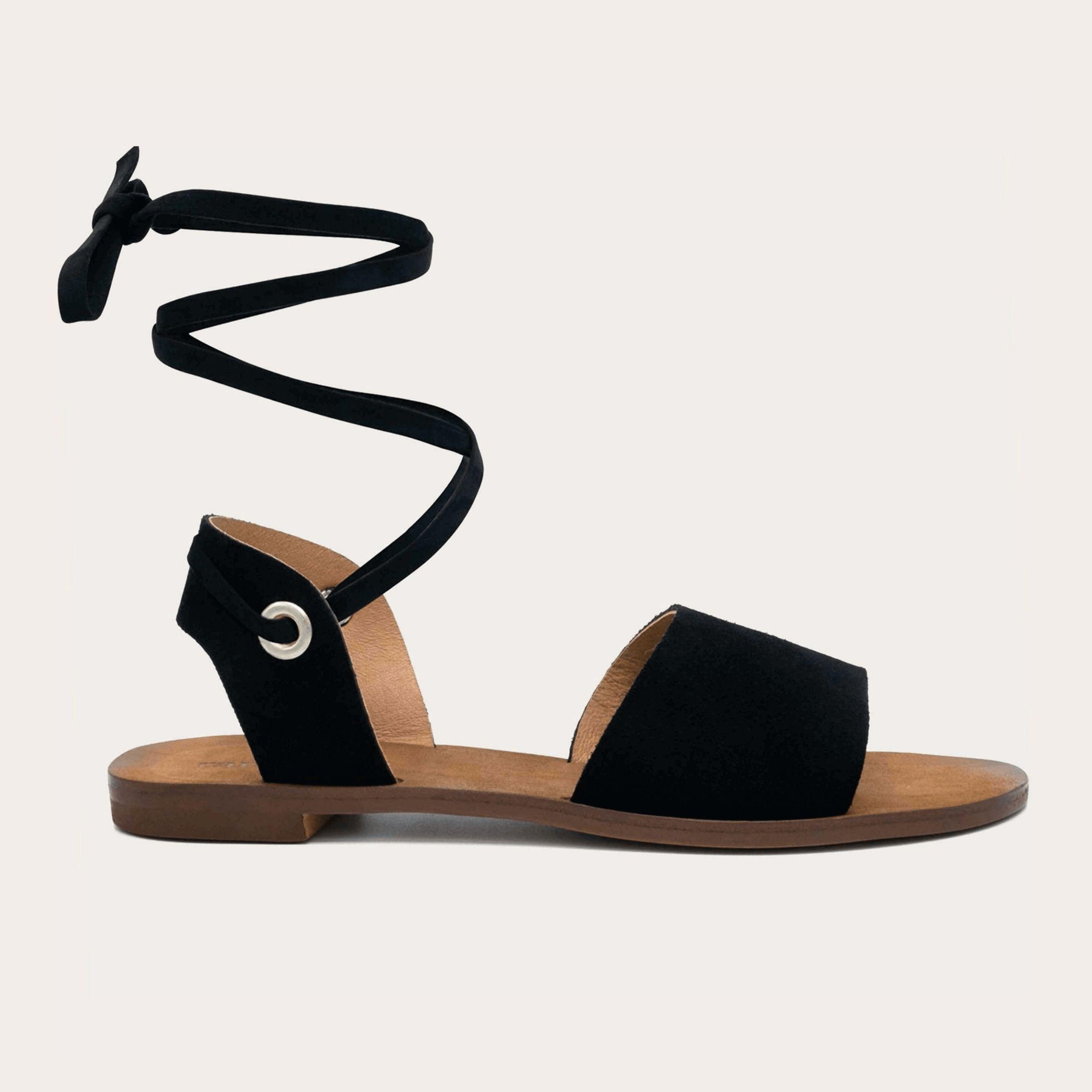 acapulco-black_1_lintsandalen sandals travelsandals vegan sustainable sandals wikkelsandalen