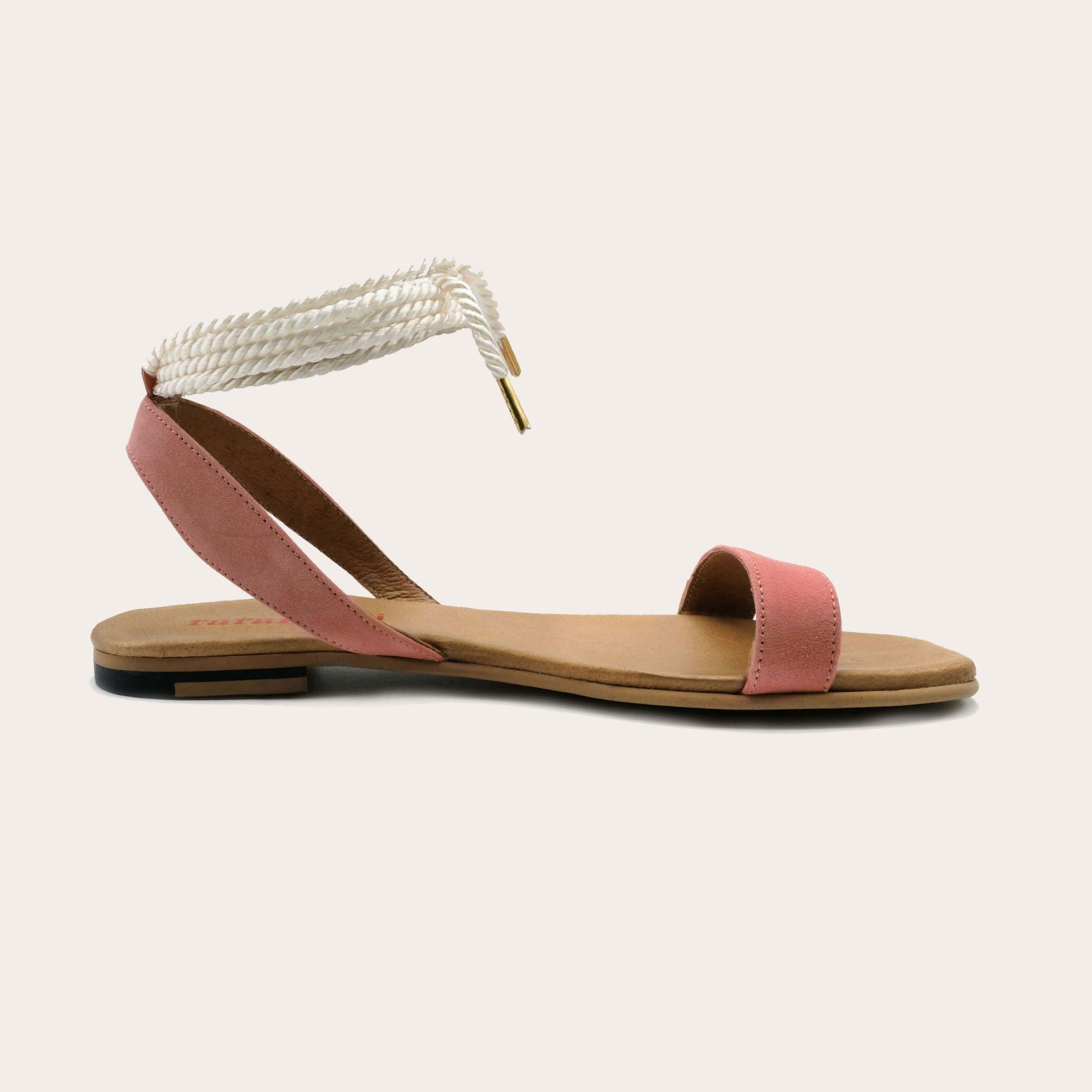 candela-apricot-lintsandalen sandals travelsandals vegan sustainable sandals wikkelsandalen