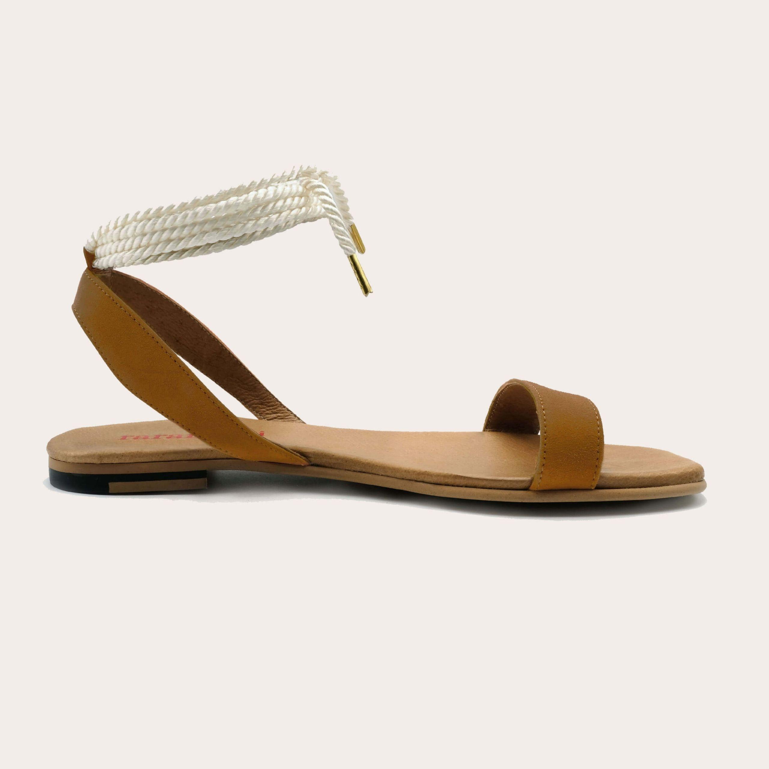 candela-camel-lintsandalen sandals travelsandals vegan sustainable sandals wikkelsandalen