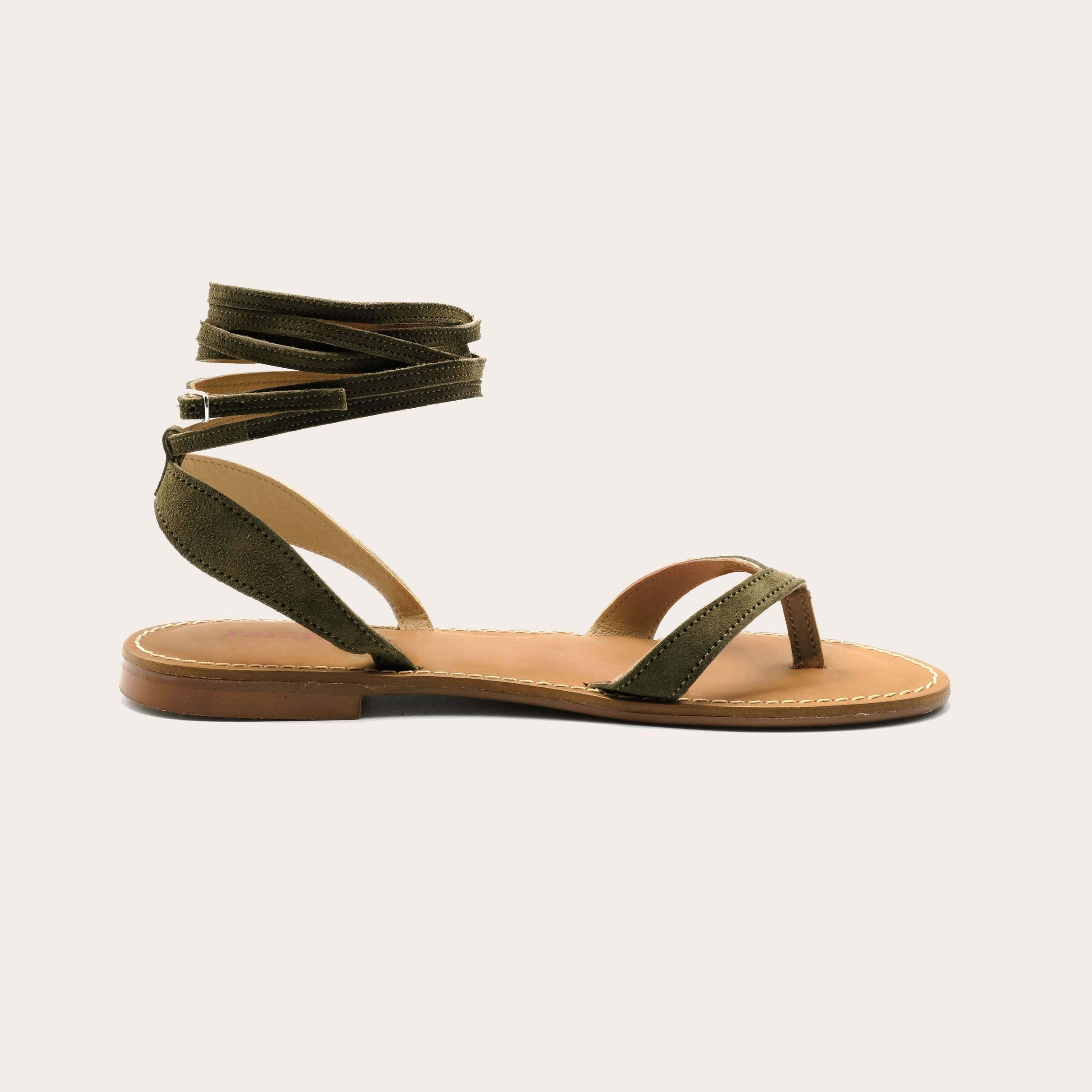 sierra-khaki_lintsandalen sandals travelsandals vegan sustainable sandals wikkelsandalen